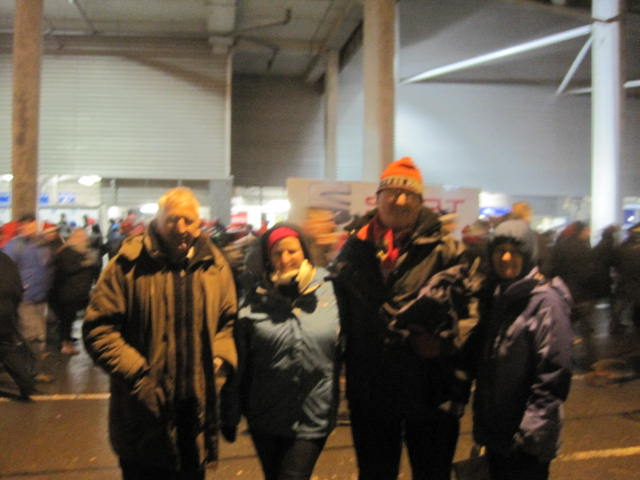 Mary, Eugene, Stephanie and Bloggs at Thomond